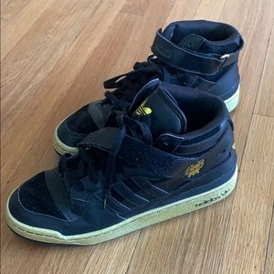 Adidas Forum Mid Black and Gold Sneakers